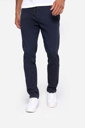 Threadbare Navy Carden Casual Trousers