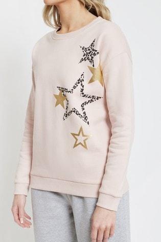 Society 8 Pink Star Sweatshirt