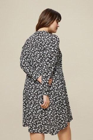 Dorothy Perkins Multi Curve Floral Shirred Dress