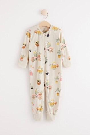 Lindex Cream Zip Sleepsuit (Baby)