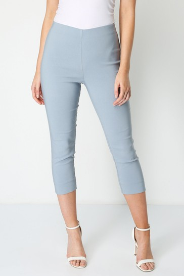 Roman Grey Cropped Stretch Trouser
