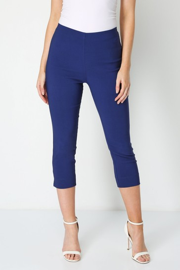 Roman Midnight Blue Cropped Stretch Trouser
