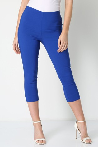Roman Blue Cropped Stretch Trouser