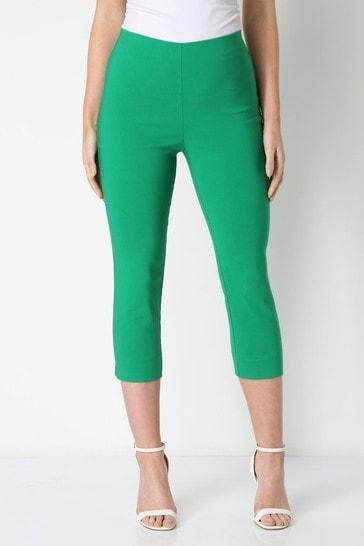 Roman Emerald Green Cropped Stretch Trouser