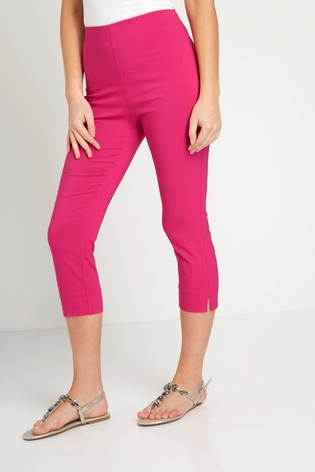 Roman Pink Cropped Stretch Trouser
