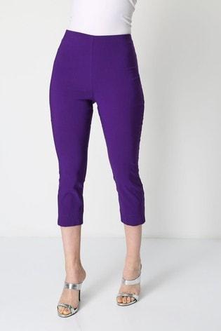 Roman Purple Cropped Stretch Trouser