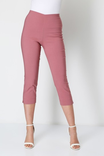 Roman Dusky Pink Cropped Stretch Trouser