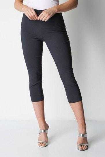 Roman Dark Grey Cropped Stretch Trouser