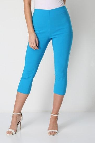 Roman Blue Cropped Stretch Trouser