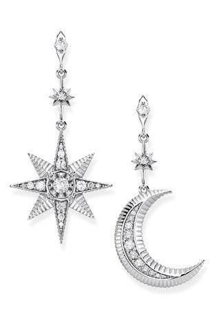 Thomas Sabo Silver Kingdom of Dreams Star  Moon Earrings