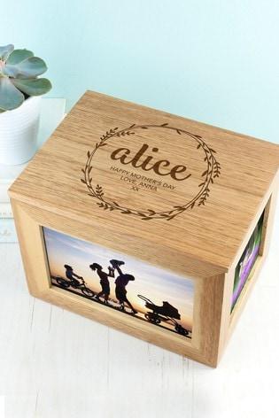 Personalised Photo Cube Keepsake Box by Treat Republic
