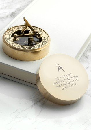 Personalised Sundial Compass by Treat Republic