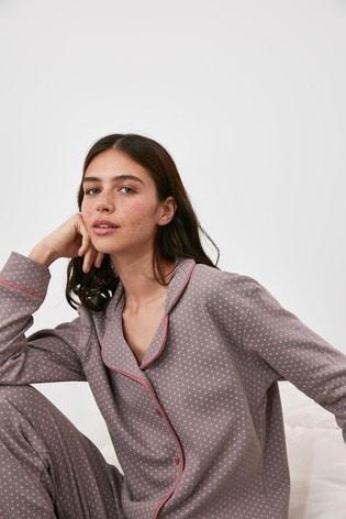 Trendyol Lilac Polka Pyjamas
