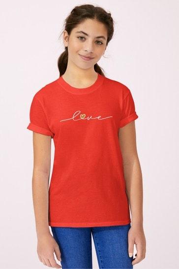 Personalised Lipsy Love Heart Script Kid's T-Shirt by Instajunction