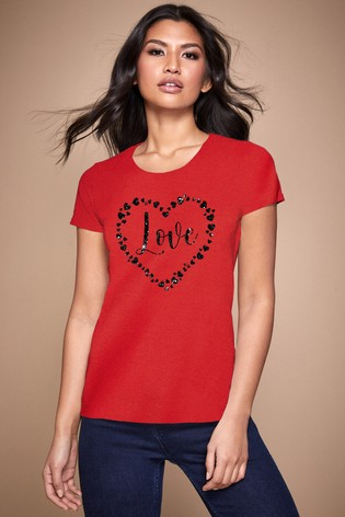 Personalised Lipsy Love Hearts All Around Women's T-Shirt by Instajunction