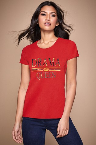Personalised Lipsy Drama Queen Women's T-Shirt by Instajunction