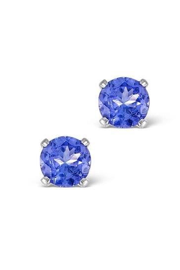 The Diamond Store White Tanzanite 1.00CT High Quality AA 925 Silver Earrings