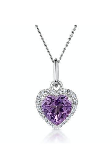 The Diamond Store Purple Lab Diamond Half Eternity Wave Ring 0.05ct