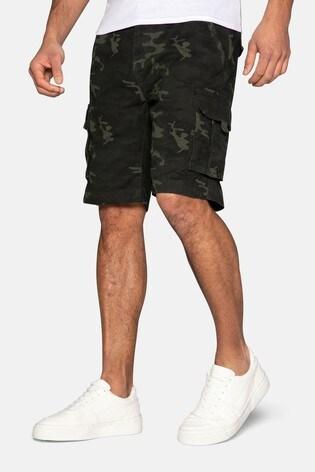 Threadbare Khaki Camo Cargo Shorts