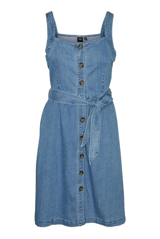 Vero Moda Mid Blue Denim Sun Dress