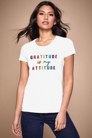 Personalised Lipsy Gratitude Is My Attitude Women's T-Shirt by Instajunction