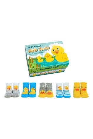Cucamelon Hello Ducky Newborn Pack of 5 Socks