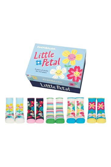 Cucamelon Little Petal Childrens Pack of 5 Socks