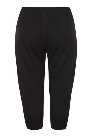 Yours Black Cropped Joggers