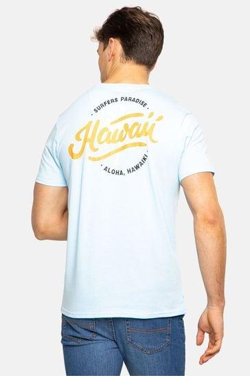 Threadbare Mint  Rose Blue 3 Pack Front Print T Shirts