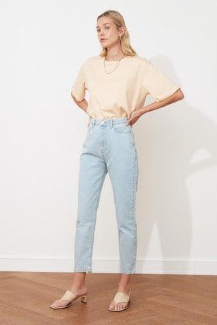 Trendyol Light Blue Mom Jeans