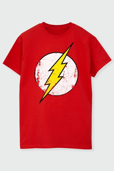 Brands In Red Mens Flash T-Shirt by DC Comics