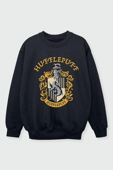 Girls Hufflepuff Crest T-Shirt by Harry Potter