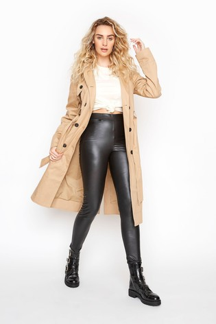 Long Tall Sally Black Leather Look Leggings