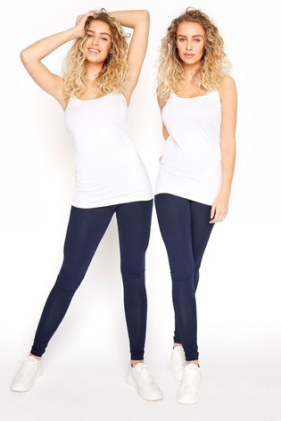 Long Tall Sally Blue Two Pack Cotton Leggings