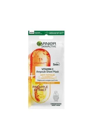 Garnier SkinActive Vitamin C Anti Fatigue Ampoule Sheet Mask 15g