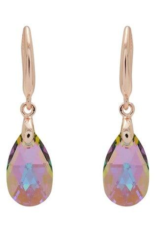 Jon Richard Pink Plated Pear Earrings