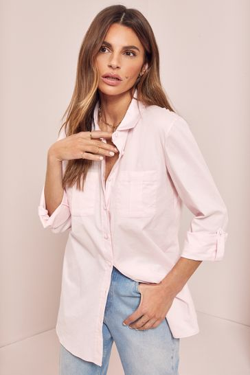 Lipsy Pink Regular Relaxed Supersoft Utility Shirt