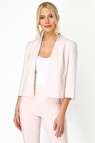 Roman Pink 3/4 Sleeve Rochette Jacket