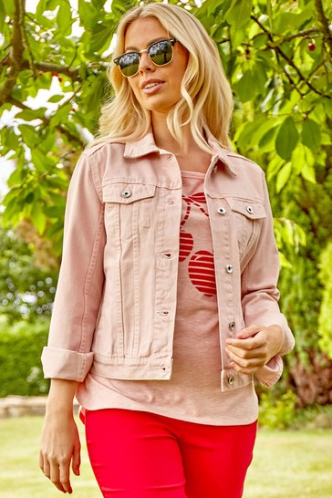 Roman Pink Denim Jacket