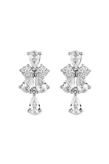 Simply Silver Silver Sterling 925 Cubic Zirconia Earrings