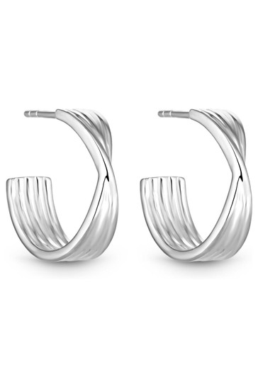 Simply Silver Silver Sterling Silver 925 Polished Twist Hoop