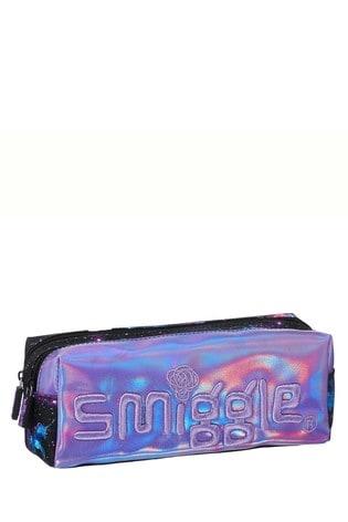 Smiggle Purple Unicorn Galaxy Twin Zip Pencil Case
