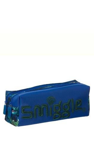 Smiggle Blue Dinosaur Galaxy Twin Zip Pencil Case
