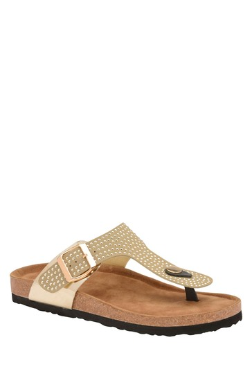 Dunlop Gold Ladies' Toe Thong Sandals
