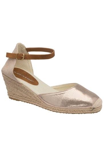 Dunlop Pale Gold Ladies' Wedge Sandals