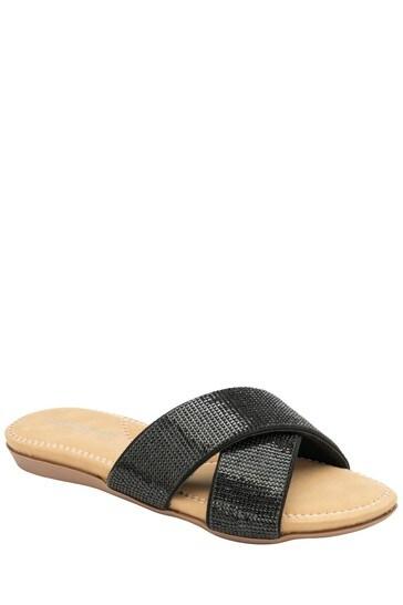 Dunlop black Ladies' Mule Sandals