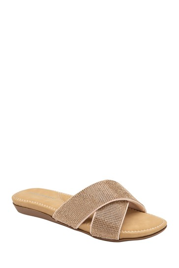 Dunlop Rose Gold Ladies' Mule Sandals