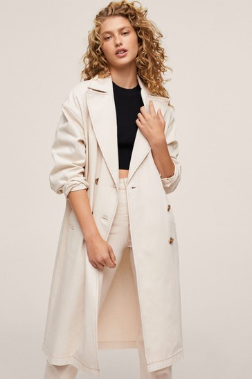 Mango Double Breasted Trench Coat