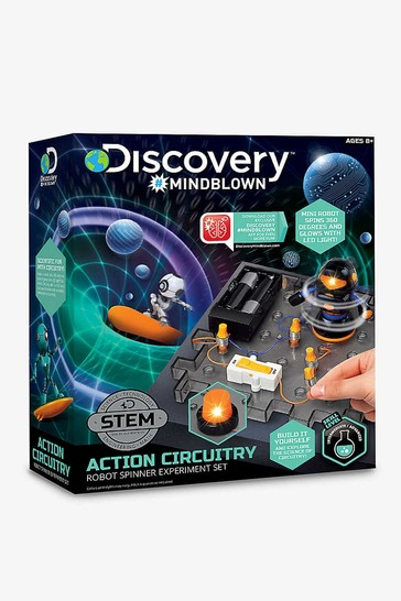 Discovery Mindblown Blue Toy Circuitry Action Experiment - Robot Spinner