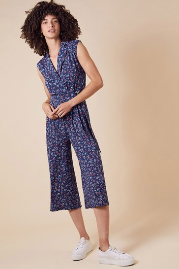 Monsoon Dione Ditsy Floral Jersey Jumpsuit